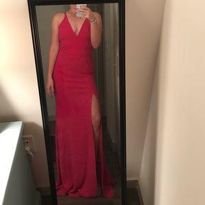 Raspberry long formal dress